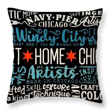 Wall Art Chicago Throw Pillow