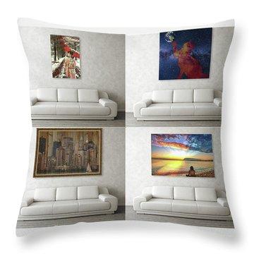 Wall Art Samples Throw Pillow