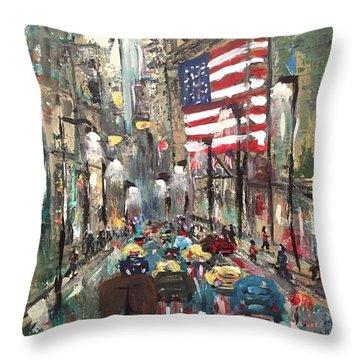 wall street NY Throw Pillow