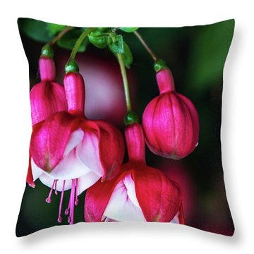 Wallpaper Flower Throw Pillow