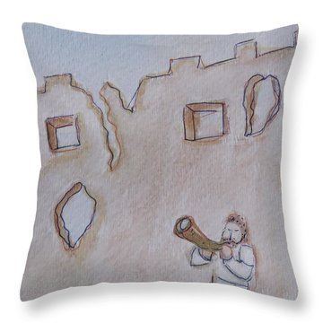 Walls Of Jericho Throw Pillow