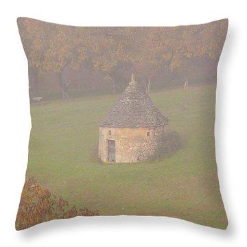 Walnut Farmers, Beynac, France Throw Pillow