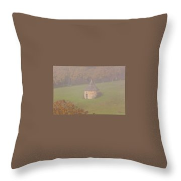 Throw Pillow featuring the photograph Walnut Farmers, Beynac, France by Mark Shoolery