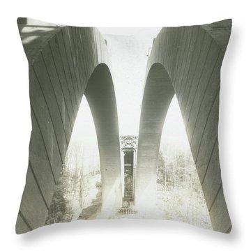 Walnut Lane Bridge Under Construction Throw Pillow