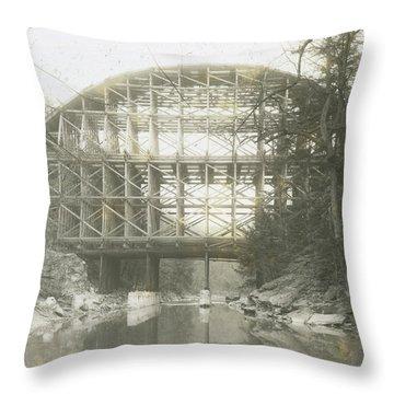 Walnut Lane Bridge Throw Pillow