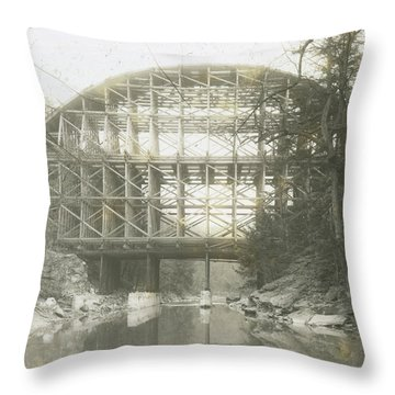 Walnut Lane Bridge Throw Pillow