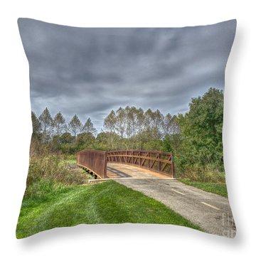 Walnut Woods Bridge - 2 Throw Pillow