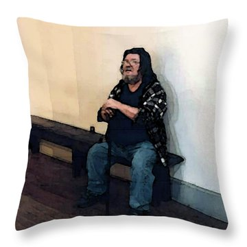 Walt Sitting Throw Pillow