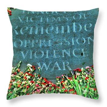 War Memorial Plaque Throw Pillow
