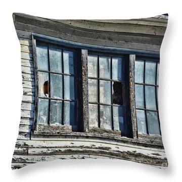 Warehouse Windows Throw Pillow