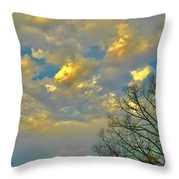Warm And Cool Sky Throw Pillow