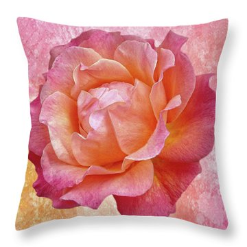 Warm And Crunchy Rose Throw Pillow