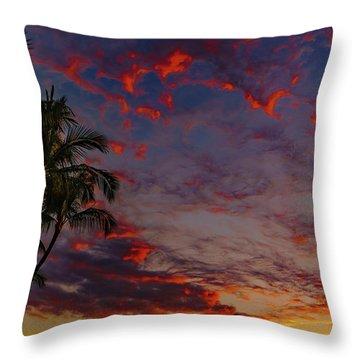 Warm Sky Throw Pillow
