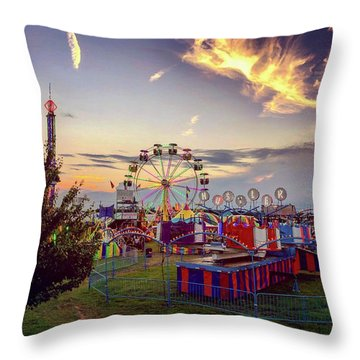 Throw Pillow featuring the photograph Warren County Fair by Candice Trimble