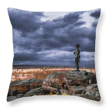 Warren In Infrared Throw Pillow