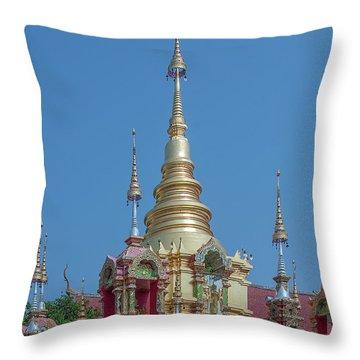Throw Pillow featuring the photograph Wat Ban Kong Phra That Chedi Pinnacle Dthlu0499 by Gerry Gantt