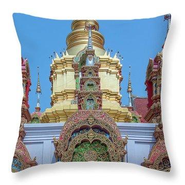 Throw Pillow featuring the photograph Wat Ban Kong Phra That Chedi Window Dthlu0504 by Gerry Gantt
