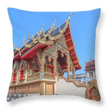 Throw Pillow featuring the photograph Wat Chai Mongkon Phra Ubosot Dthlu0391 by Gerry Gantt