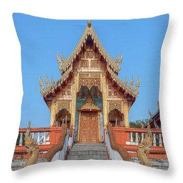 Wat Nong Tong Phra Wihan Dthcm2639 Throw Pillow