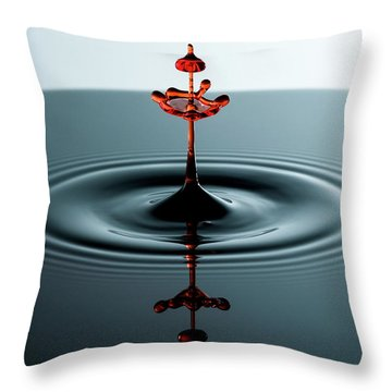 Water Drop Throw Pillow