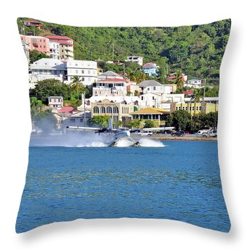 Water Launch Throw Pillow
