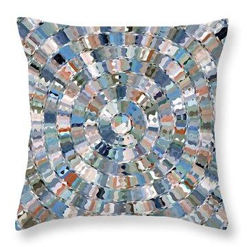 Water Mosaic Throw Pillow