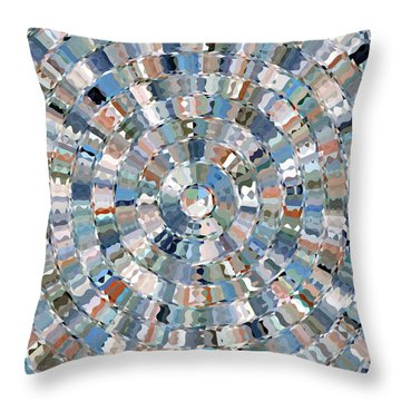 Water Mosaic Throw Pillow