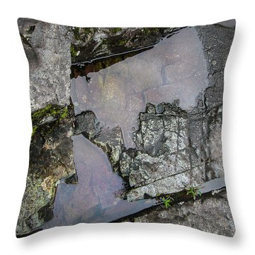 Throw Pillow featuring the photograph Water On The Rocks 3 by Juan Contreras
