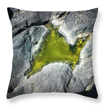 Throw Pillow featuring the photograph Water On The Rocks 5 by Juan Contreras