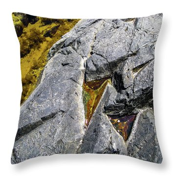 Throw Pillow featuring the photograph Water On The Rocks 8 by Juan Contreras