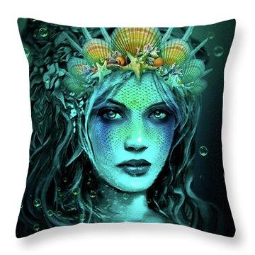 Water Queen Throw Pillow