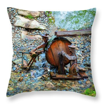 Water Workers Throw Pillow