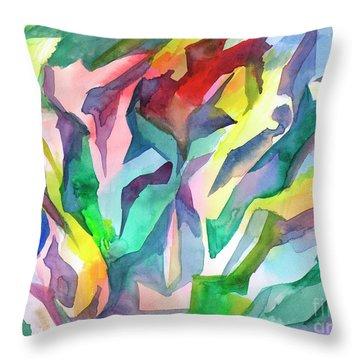 Watercolor Mosaic Throw Pillow
