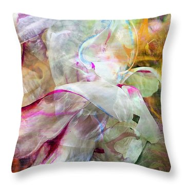 Watercolor Peony Throw Pillow