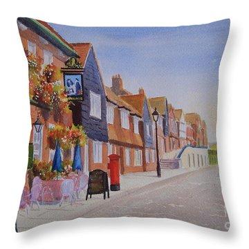 Watercolour Folkestone Harbour Throw Pillow