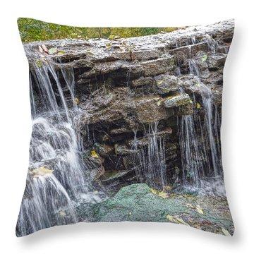 Waterfall @ Sharon Woods Throw Pillow
