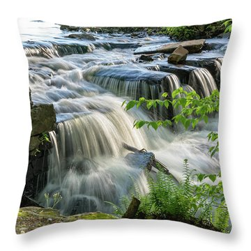 Waterfall At The Old Mill  Throw Pillow