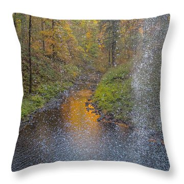 Waterfall Waterdrops Throw Pillow