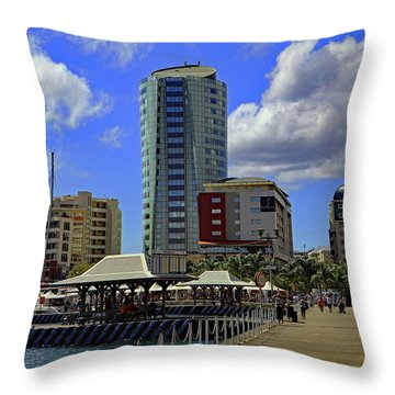Throw Pillow featuring the photograph Waterfront by Tony Murtagh