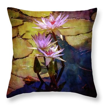 Waterlily Bouquet 2922 Idp_6 Throw Pillow
