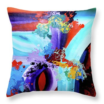 Watery Waves Throw Pillow