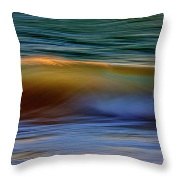 Wave Abstact Throw Pillow