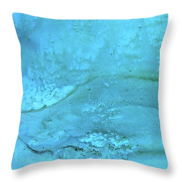 Wave Action Turquoise Throw Pillow