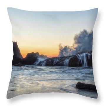 Wave Burst Throw Pillow
