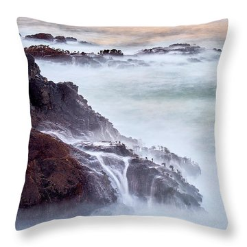 Throw Pillow featuring the photograph Wave Falls by Whitney Goodey
