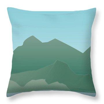 Wave Mountain Throw Pillow