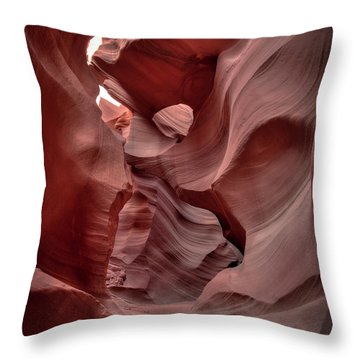 Waves And Curls Throw Pillow