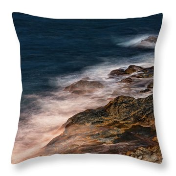 Waves And Rocks At Sozopol Town Throw Pillow