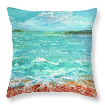 Waves At Sombrero Beach Throw Pillow
