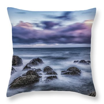 Waves At The Shore Throw Pillow